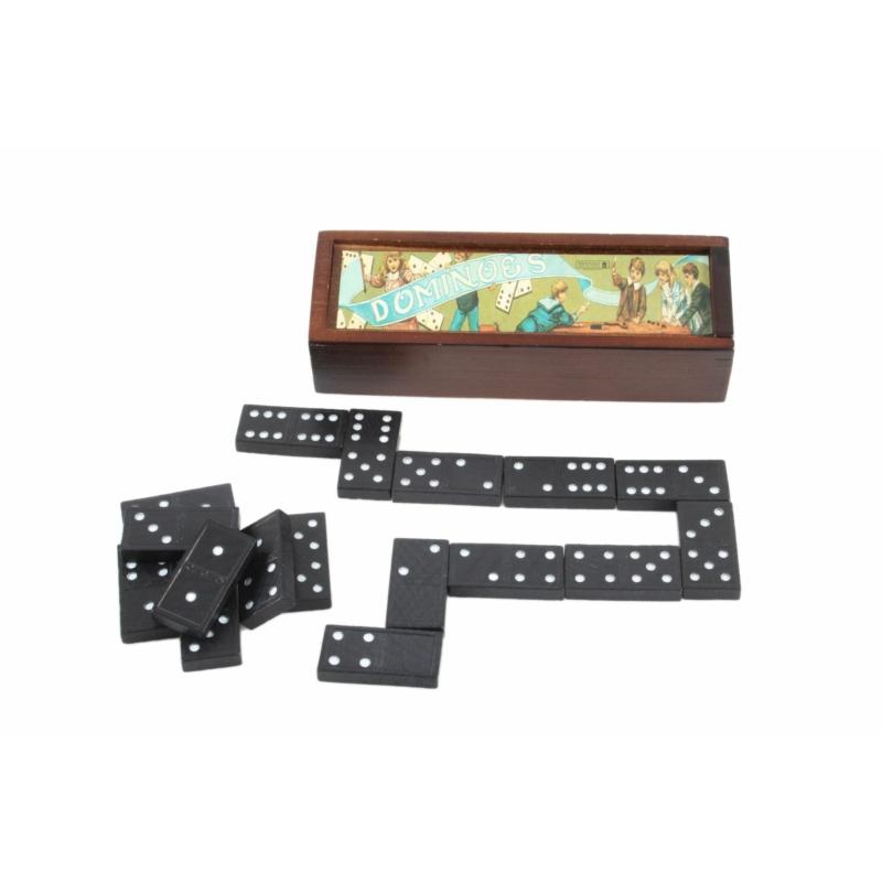 Magni klasszikus dominó játék fa dobozban