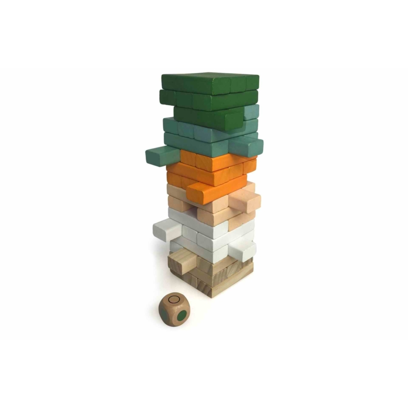 Magni színes jenga játék dobókockával