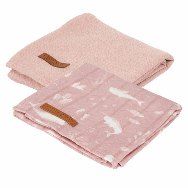 Little Dutch textilpelenka óceán pink 70x70 cm (2 db)