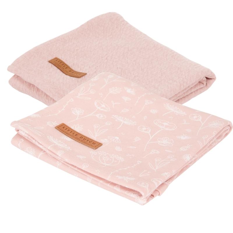 Little Dutch vad virágok pink textilpelenka 70x70 cm