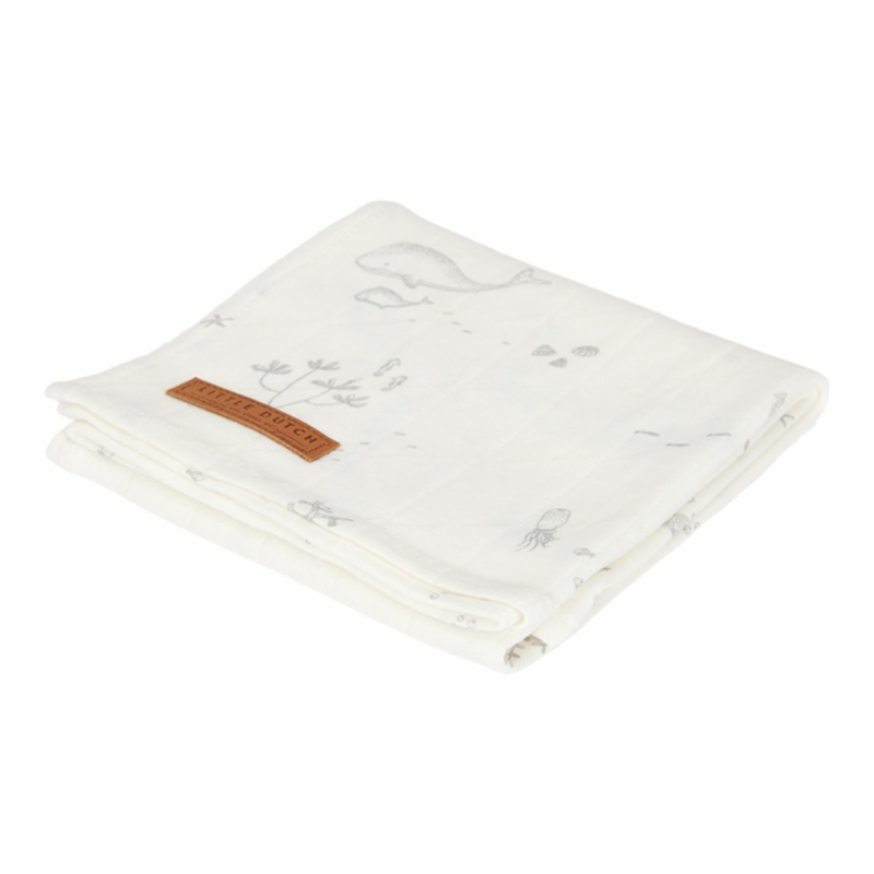 Little Dutch textilpelenka óceán fehér 120x120 cm