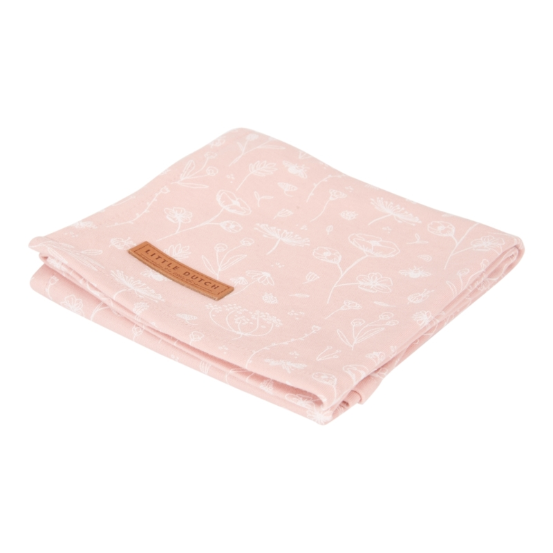 Little Dutch vad virágok pink textilpelenka 120x120 cm