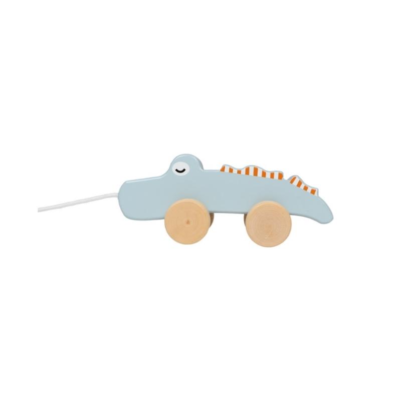 Fa játék húzható krokodil